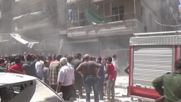 Кървава бомбардировка в сирийския град Алепо