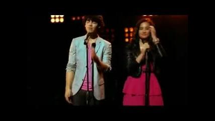 Selena Gomez, Miley Cyrus & Demi Lovato, Jonas Brothers - Send it On (lyric)