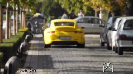 Yellow Porsche Carrera 4s in Sofia
