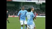 Скантроп 2 - 4 Манчестър Сити гол на Мартин Петров
