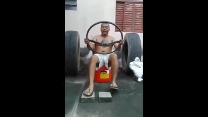Когато въображението ти превръща въображаемия ти камион в спортна кола!
