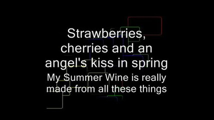 Summer Wine - Natalie Avelon & Ville Valo __ with Lyrics (sing Along) for two People!