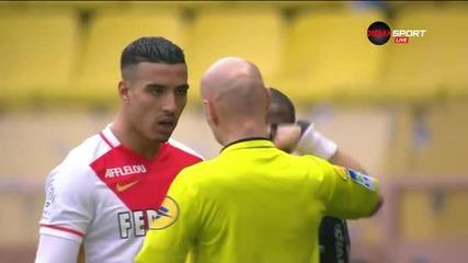 Монако с червен картон за Набил Дирар срещу Ница