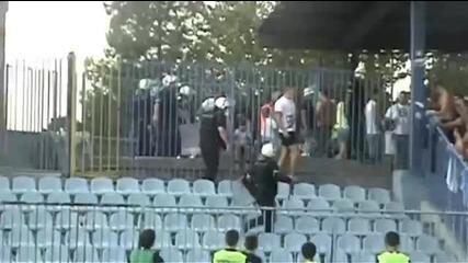 Инцидент с фенове на Партизан в Карабурма! *02.09.2012г.*