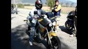 Жена ми с на брат им Yamaha-та...