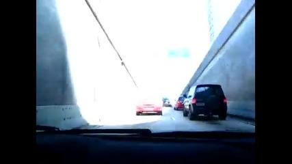 Lamborghini Superleggera тероризира тунелите в Sao Paulo