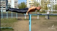 Workout Omsk - Planche push ups world record