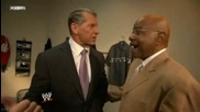 Smackdown 2009/06/26 Mr. Mcmahon & Rey Mysterio with Long [ backstage]