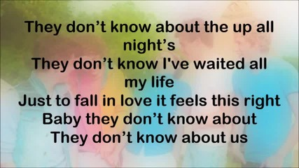 One Direction - They Don't Know About Us (текст)
