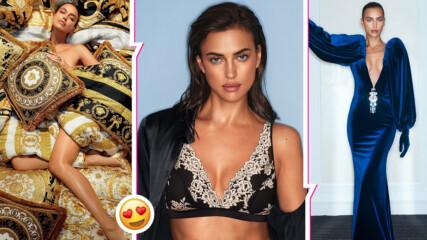 Публично vs. интимно: Ирина Шейк остана само по плочки за нова корица на модно списание