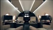 Първата класа е само в частните самолети: Gulfstream Aerospace G650, G450, G280 And G150 Private Jet