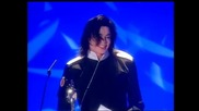 Michael Jackson wins Artisit of a Generation presented by Bob Geldof - Brit Awards 1996