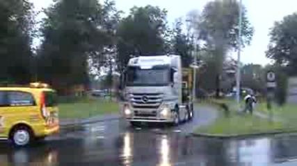 Камион си загубва ремаркето