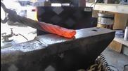 Коване на нож от стоманено въже