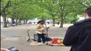 Найл Роджърс изкара 12 лири като уличен музикант