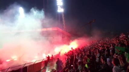 Феновете на Фк Черно море (купа на България 2015)