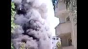 Пожар в кв. Красна поляна,  София,  14.06.2009