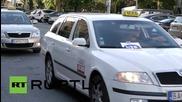 Slovakia: Anti-Uber taxi drivers bring Bratislava to a standstill