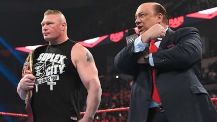 Paul Heyman declares Brock Lesnar owes Ricochet a beating: Raw, Feb. 24, 2020