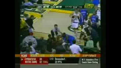 Keyon Dooling fights Ray Allen - punches trown - Magic vs So