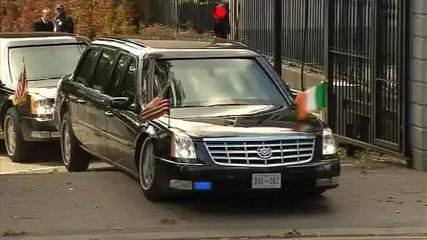 упс,лимузината на Обама заседна !!!