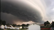 Time lapse - Тежка буря в Сейнт Луис, Мисури 20.8.2014
