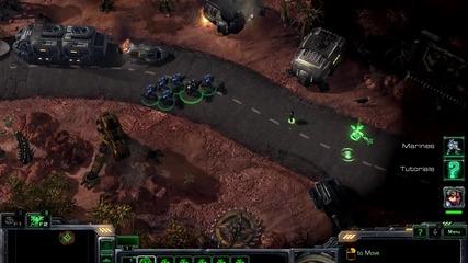 Starcraft 2 - 7 минути геймплей {720p}