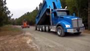 Много добри шофьорски умения на камиони