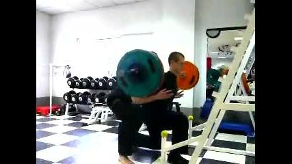5 x 125 kg Lunge
