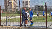 Валери Божинов и синът му в приятелски разговор с Георги Тодоров