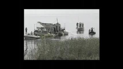 кадри от потъването на кораба Илинден