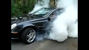 Mercedes E55 Burnout