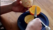 Страхотен начин за белен на портокал !!