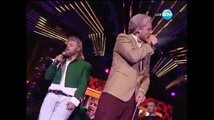 Ангел и Моисей на сцената на X Factor