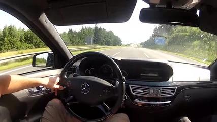 Mercedes S 65 Amg V12 Biturbo на Германски аутобан