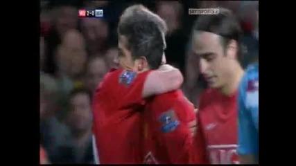 Manchester United vs West Ham United - Ronaldo 2nd Goal (berbatov Skill) - 29 10 08