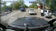 За руските автобуси няма светофари.