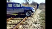 Rail Crossing Близо До Кпп Капитан Андреево