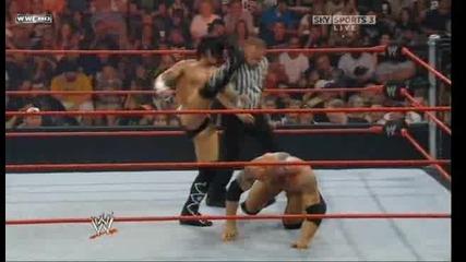 Raw 21.07.2008 - Батиста Срещу Си Ем Пънк За Титлата в Тежка Категория