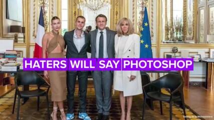 Това не е Photoshop: Джъстин Бийбър се срещна с френския президент! За какво си говориха?