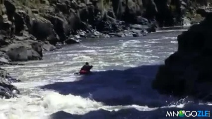 Скок с кану от 57 метров водопад