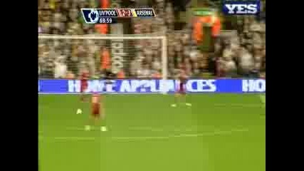 21.04 Третия гол на Андрей Аршавин ! Ливърпул - Арсенал 4:4