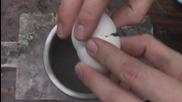 Счупване на яйца замразени с течен азот