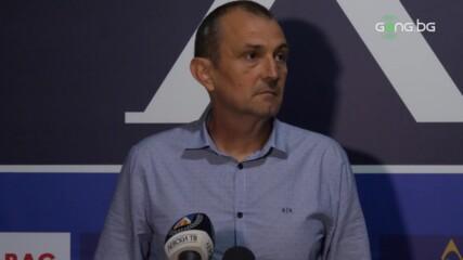 Загорчич: Нервен мач, доволен съм от характера на моя отбор