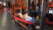 Избутване с дъмбели от наклон за горни гърди - Симона Георгиева