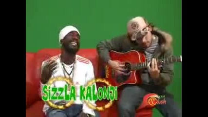 sizzla - be strong Live On Riddim Up On The Green Screen