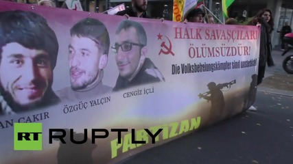Germany: Hundreds march through Frankfurt for pro-Kurdistan rally