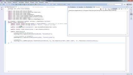 [1.7.2] Moding tutorials #2 -- Блок, предмет и рецепта