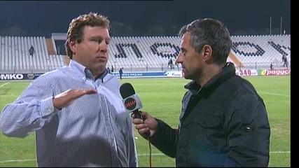 Вуцов: Резултатът трябва да ни удовлетворява