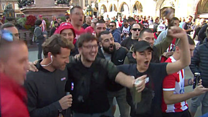 Germany: Red Star Belgrade fans take over Munich